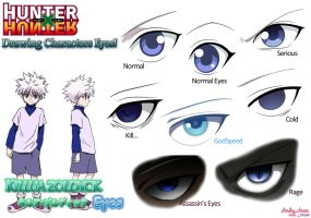 Hunter x Hunter - Killua's eyes by Andy-chanWantToDraw