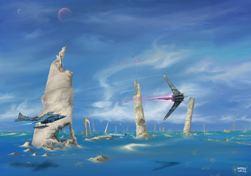 Battle on ancient city by AoiWaffle0608