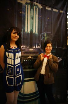 Fem!Doctor and the Tardis by Mad-Whovian-In-A-Box