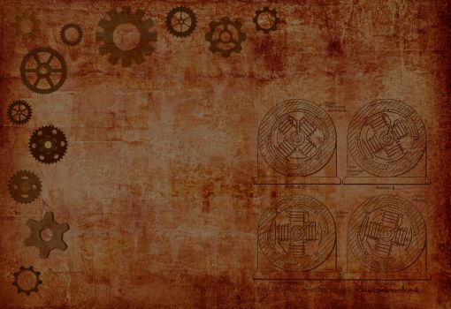 Steampunk Wallpaper by MyScarredHeart