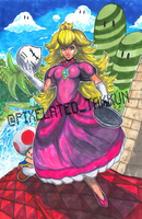 Smash Series: Princess Toadstool Joins the Battle! by Pixelated-Takkun