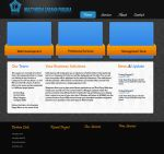 Dark blue  webdesign interface by omagus