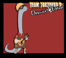 Random Art - TF2 Dinosaur Edition - Engineer by CasFlores
