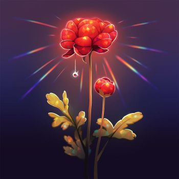 Flower lamp. by longestdistance