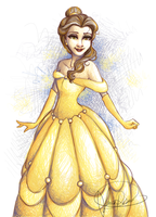 Belle - Crosshatched by Curly-Qs