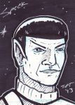 10 Minute Prime Spock Sketchcard by stourangeau