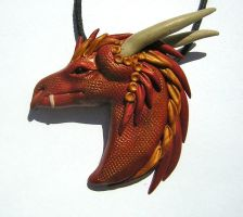 Red Dragon Pendant by eerok1955