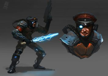 SS cyborg officer by RAPHTOR