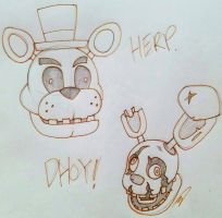 Five Nights at Derp by DoodToon