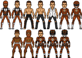 Aeron Graziano MMPR Movie Costume Lineup by Wolvengra
