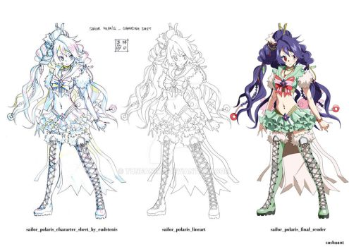 Sailor Polaris_Character illustration by TuneAnime