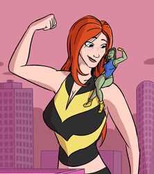 Giant Mary Jane: The gun show by MisterBigRed