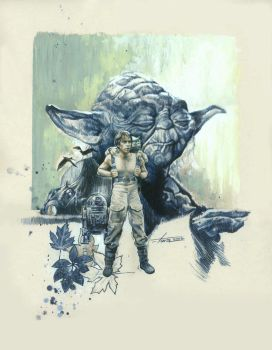 Star Wars--Yoda and the Force by TrevorGrove