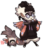 #1129 Mythical BB - Ferret Pheonix by griffsnuff