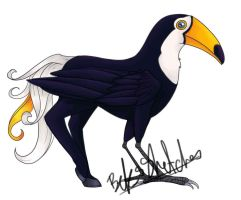 Toucan Hippogriff by BeksSketches