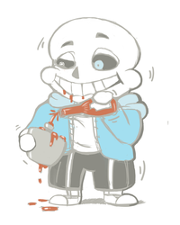 Sans's Ketchup Addiction by tebited15