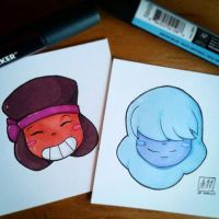 Ruby and Sapphire by LeSardine