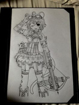 Anime Cat Girl (Steampunk style) by Cerise-M