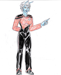 Andorian commander TNG by theaven
