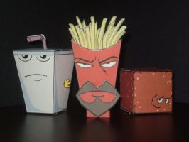 Cubees Aqua Teen Hunger Force by CyberDrone