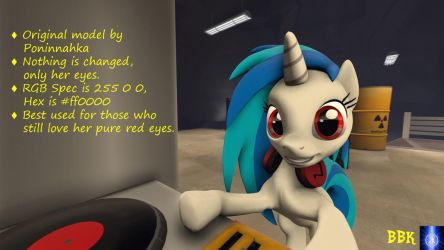 [DL] Vinyl Scratch with Red Eyes by BB-K