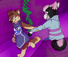 :YCH Finished: In The Ruins with Agata by Maitrii
