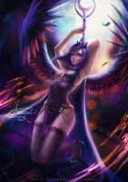 Princess Luna .:18+ optional:. by Axsens