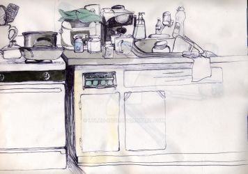 kitchen sketch by lylah-rose