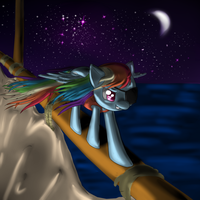 Pirate Rainbow Dash by MidnightQuill