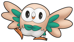 Daily Doodle #131 - Rowlet by Mr-Sage