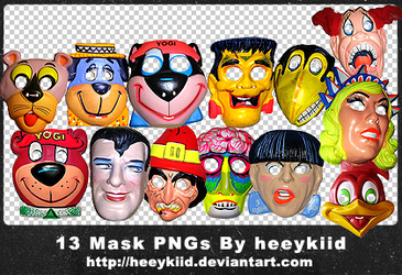 13 Mask PNGs By heeykiid by heeykiid