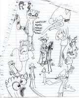 Class Doodles 5 by BucketOfFail