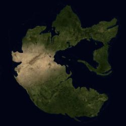 The continent of Pangaea 250 million years ago by Kexitt