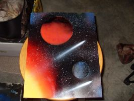 Space in Spray Paint by Belial9996