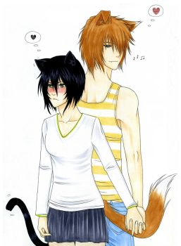 Cats and Dogs : Secretly Lovers by Ebony-of-the-Moon