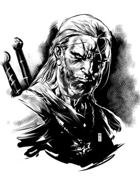 Witcher-Sketch by caananwhite