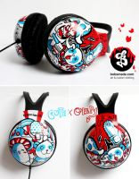 Cute and creepy headphones by Bobsmade