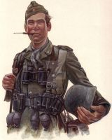 World War 2 German soldier by brownsonart
