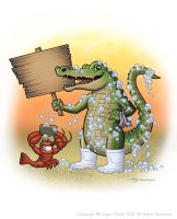Cajun Clean Gator 1 by strickart