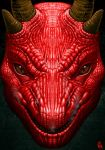 Red dragon face by AlMaNeGrA