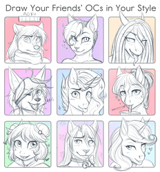Draw Your Friends! by AskBubbleLee