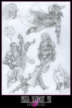 More FF7ish Doodles by Fanglicious