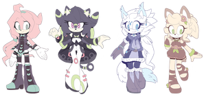 [CLOSED] Sonic Girls Adopt AUCTION by Fivey