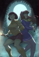 Mystery Inc :The girls _velma _daphne by yinfaowei