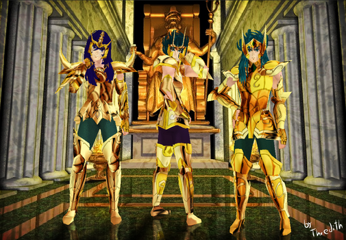 Gold Saints - Sims by thredith