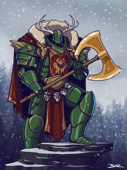 Primarch Arthes Woden of the Wild Hunters Legion by Blazbaros