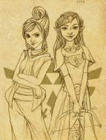 Day 8 - Tetra and Zelda by Fayetalstudios