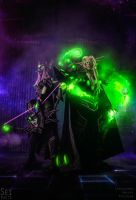 HotS - Master Kael'thas and Master Sylvanas by Feyische