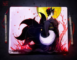 Moleskine: 9 Tails by Kate-FoX