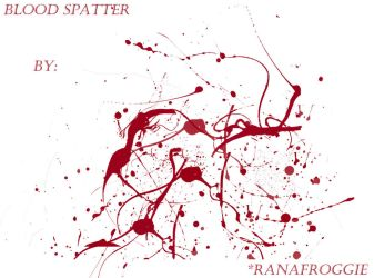 Blood Spatter Brush Pack by Ranafroggie